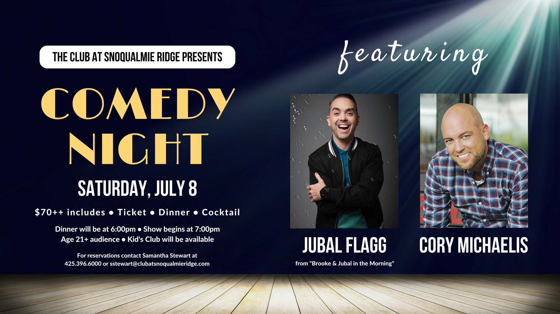 Comedy Night featuring Jubal Flagg and Cory Michaelis | The