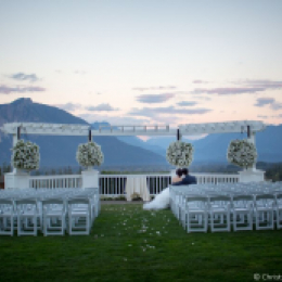 Wedding Arbor and Mount Si