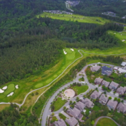 Golf Course Drone Fly Over
